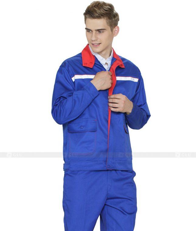 Dong phuc cong nhan GLU CN1090 mẫu áo công nhân
