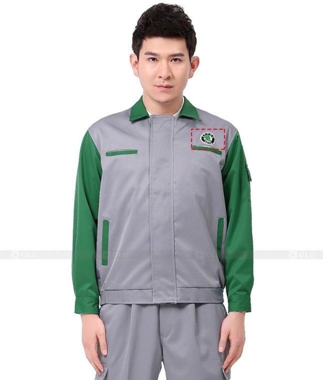 Dong phuc cong nhan GLU CN1094 mẫu áo công nhân