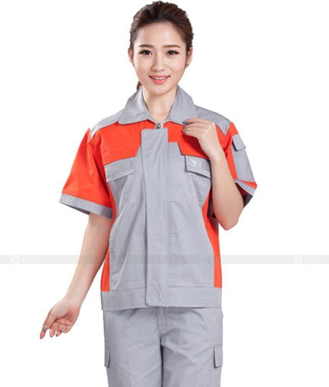 Dong phuc cong nhan GLU CN1096 mẫu áo công nhân