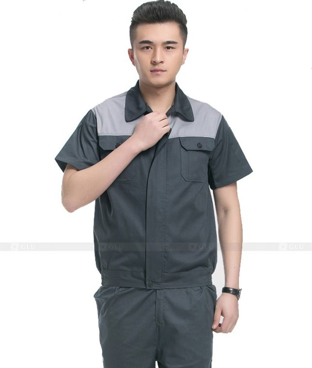 Dong phuc cong nhan GLU CN1099 mẫu áo công nhân