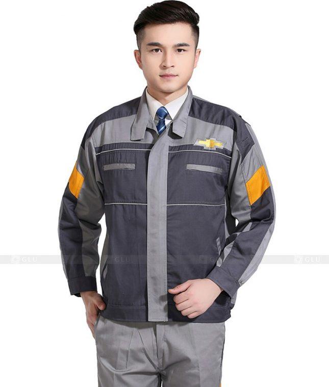 Dong phuc cong nhan GLU CN1100 mẫu áo công nhân