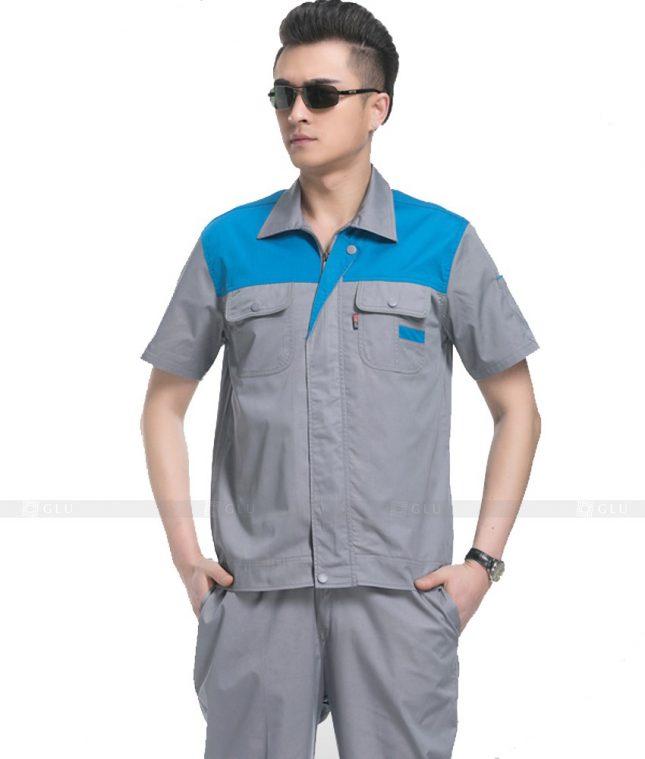 Dong phuc cong nhan GLU CN1101 mẫu áo công nhân