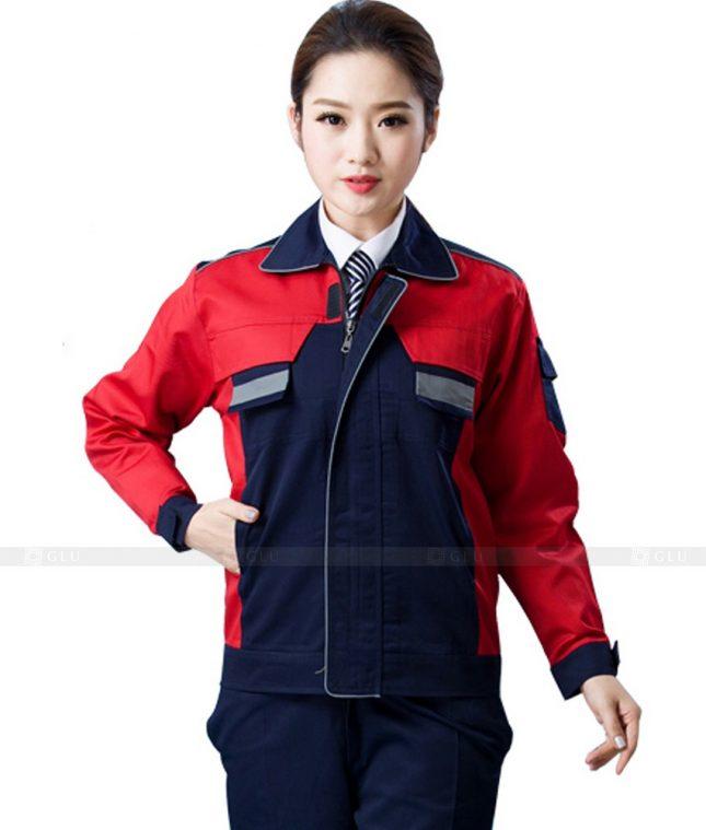 Dong phuc cong nhan GLU CN1104 mẫu áo công nhân