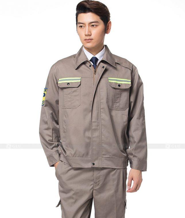 Dong phuc cong nhan GLU CN1105 mẫu áo công nhân