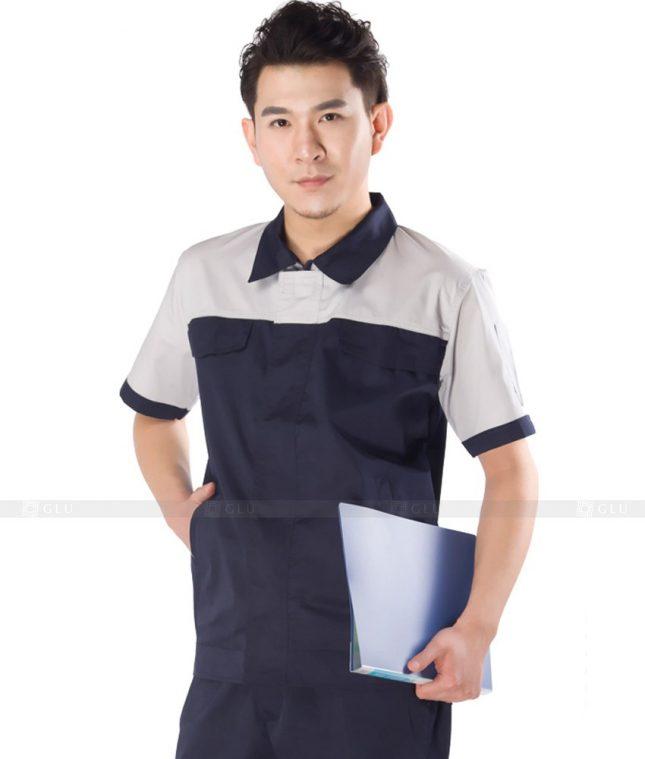 Dong phuc cong nhan GLU CN1106 mẫu áo công nhân