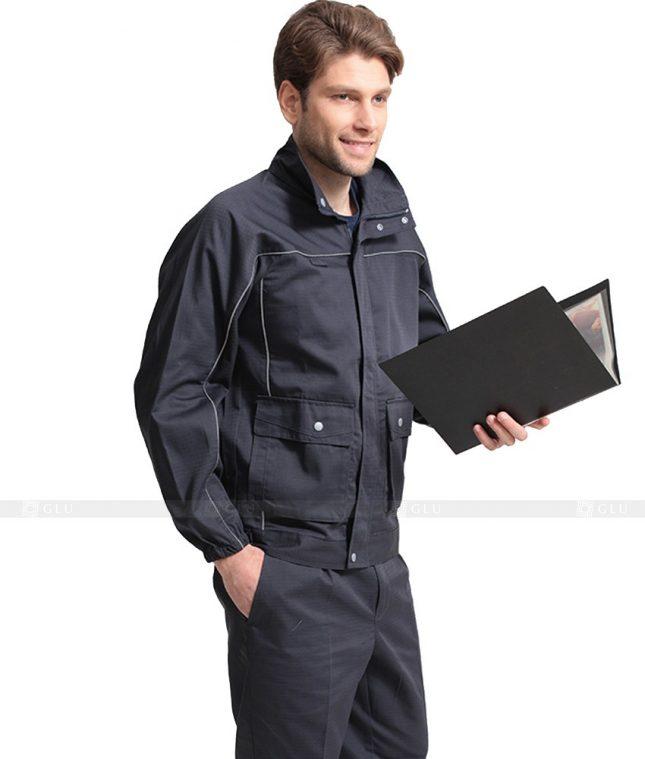 Dong phuc cong nhan GLU CN1107 mẫu áo công nhân