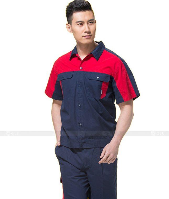 Dong phuc cong nhan GLU CN1109 mẫu áo công nhân