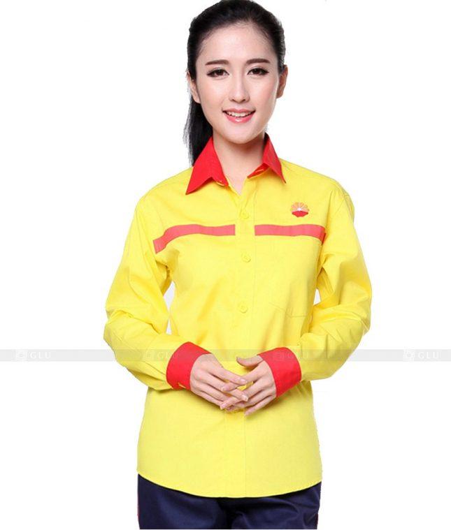 Dong phuc cong nhan GLU CN1111 mẫu áo công nhân