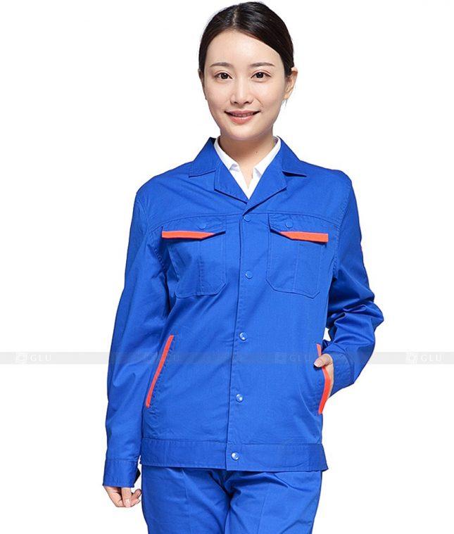Dong phuc cong nhan GLU CN1112 mẫu áo công nhân