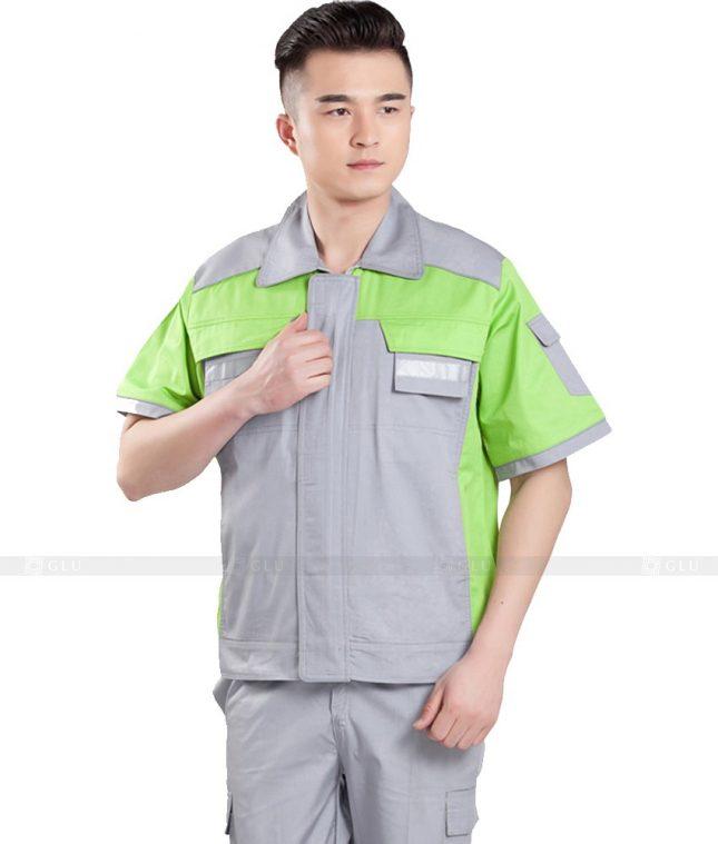 Dong phuc cong nhan GLU CN1114 mẫu áo công nhân