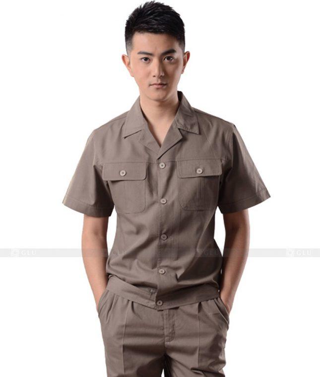 Dong phuc cong nhan GLU CN1116 mẫu áo công nhân