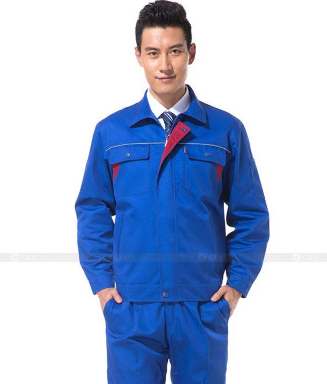 Dong phuc cong nhan GLU CN1123 mẫu áo công nhân