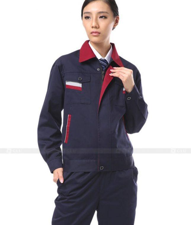 Dong phuc cong nhan GLU CN1131 mẫu áo công nhân