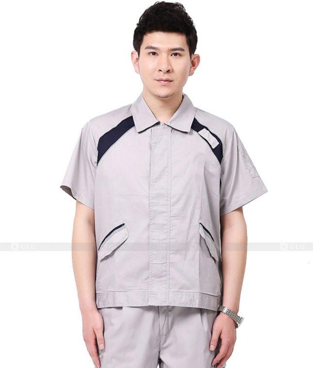 Dong phuc cong nhan GLU CN1134 mẫu áo công nhân