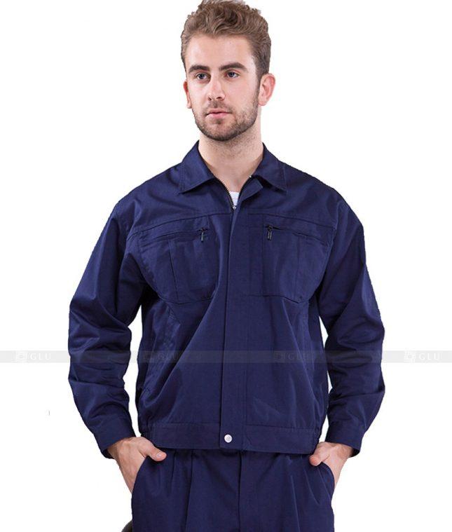 Dong phuc cong nhan GLU CN1135 mẫu áo công nhân