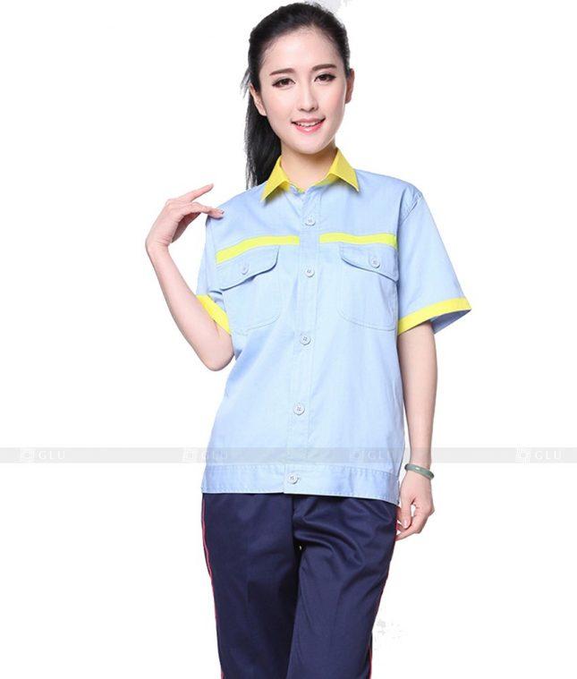 Dong phuc cong nhan GLU CN1136 mẫu áo công nhân