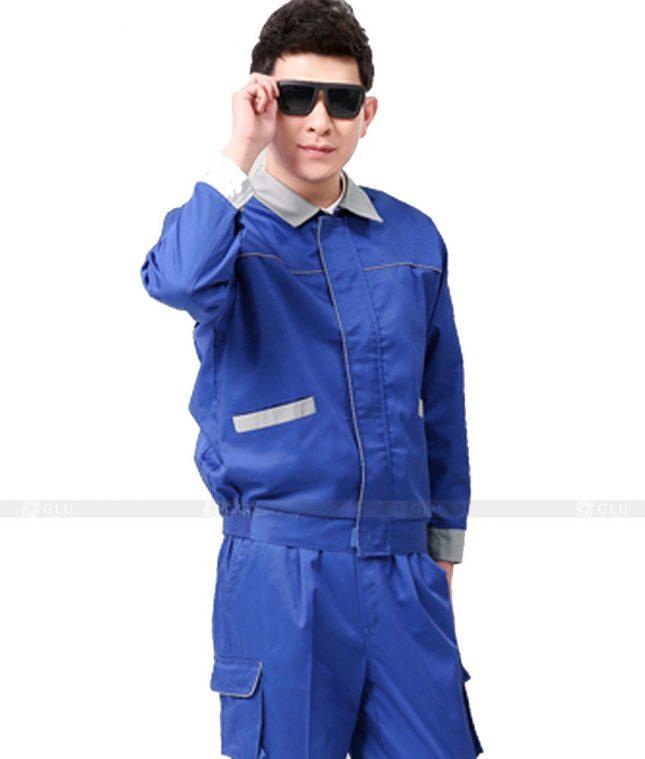 Dong phuc cong nhan GLU CN1143 mẫu áo công nhân