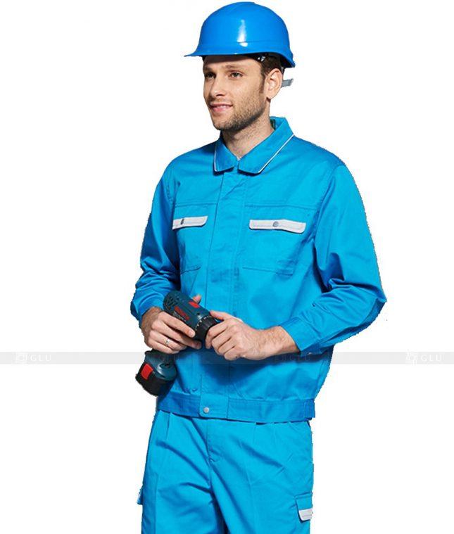 Dong phuc cong nhan GLU CN1145 mẫu áo công nhân