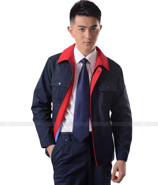 Dong phuc cong nhan GLU CN1146 mẫu áo công nhân