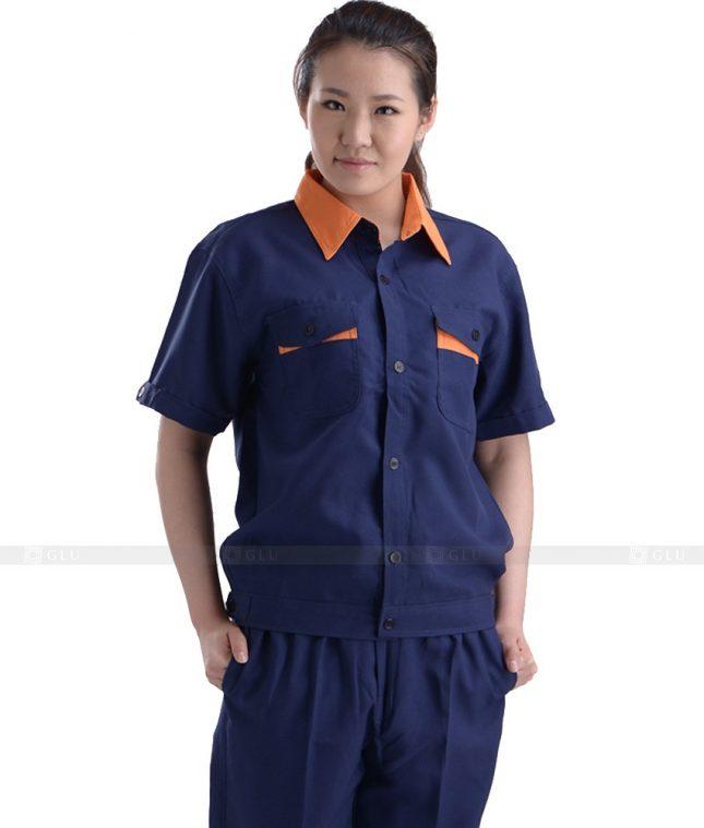 Dong phuc cong nhan GLU CN1147 mẫu áo công nhân
