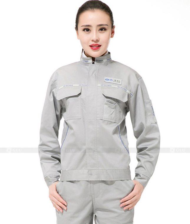 Dong phuc cong nhan GLU CN1148 mẫu áo công nhân