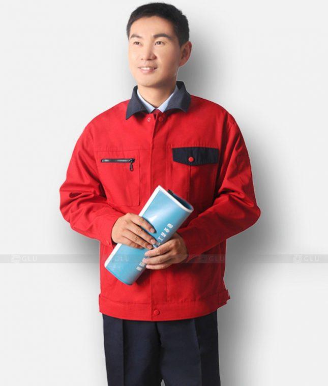 Dong phuc cong nhan GLU CN1195 mẫu áo công nhân