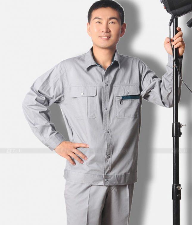 Dong phuc cong nhan GLU CN1196 mẫu áo công nhân