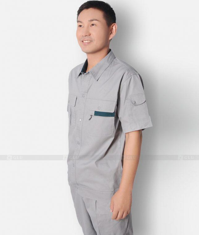 Dong phuc cong nhan GLU CN1197 mẫu áo công nhân