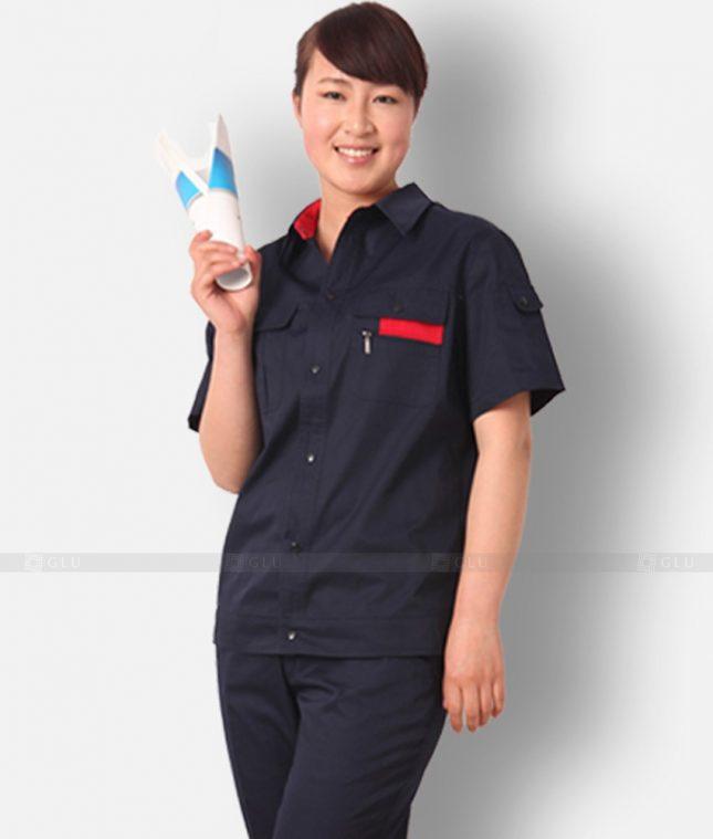 Dong phuc cong nhan GLU CN1199 mẫu áo công nhân