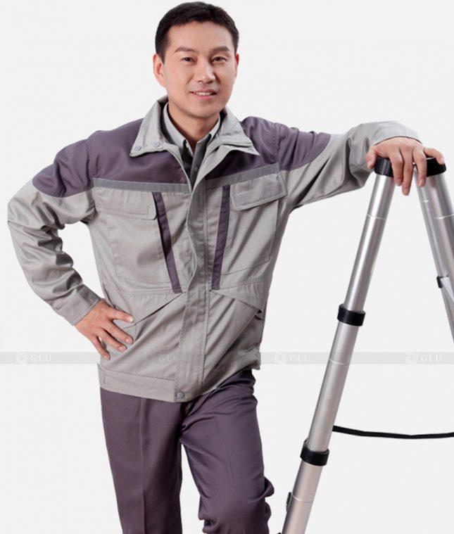 Dong phuc cong nhan GLU CN1200 mẫu áo công nhân