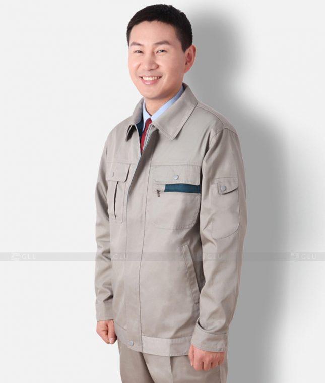 Dong phuc cong nhan GLU CN1201 mẫu áo công nhân