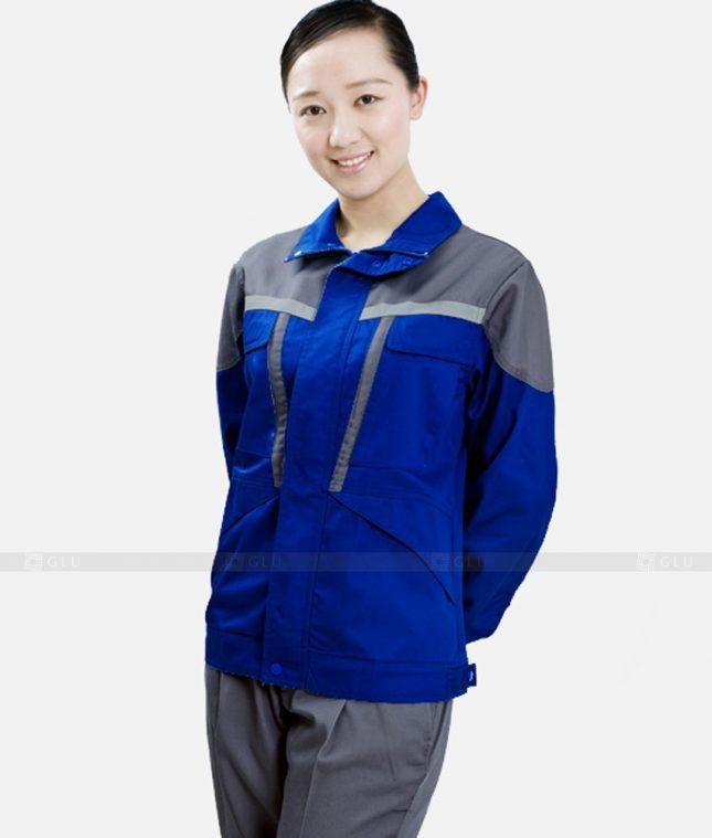 Dong phuc cong nhan GLU CN1202 mẫu áo công nhân