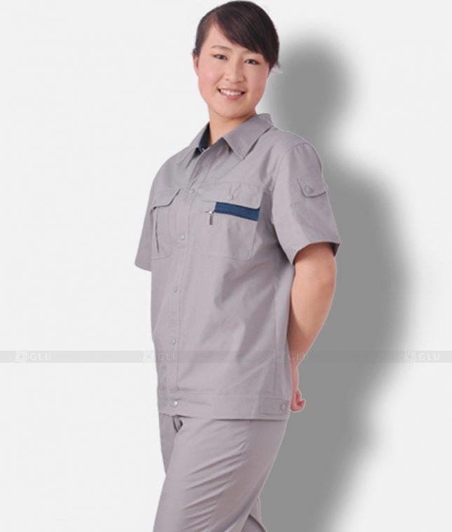 Dong phuc cong nhan GLU CN1204 mẫu áo công nhân