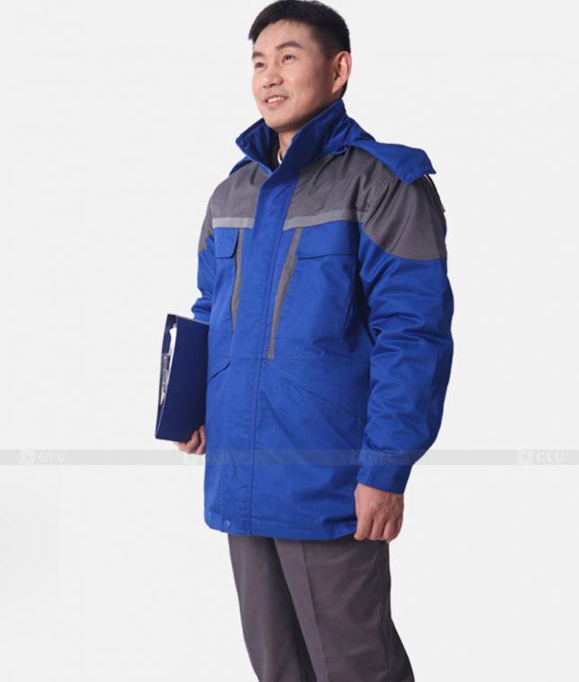 Dong phuc cong nhan GLU CN1206 mẫu áo công nhân