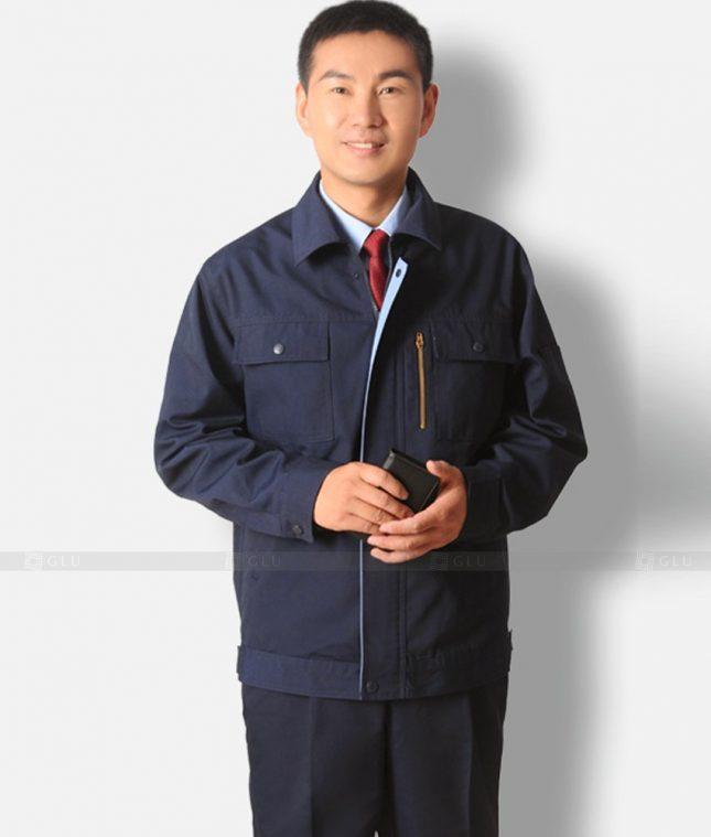 Dong phuc cong nhan GLU CN1207 mẫu áo công nhân