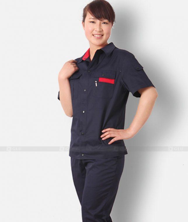 Dong phuc cong nhan GLU CN1208 mẫu áo công nhân