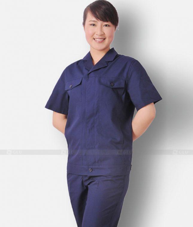 Dong phuc cong nhan GLU CN1210 mẫu áo công nhân