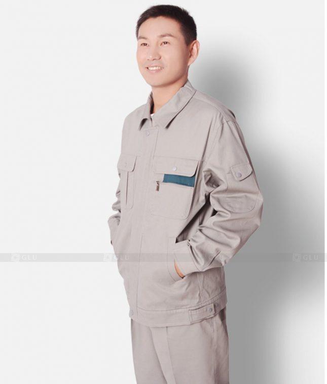 Dong phuc cong nhan GLU CN1211 mẫu áo công nhân