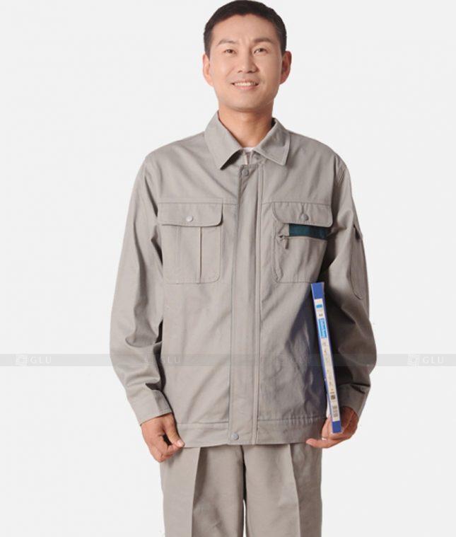 Dong phuc cong nhan GLU CN1212 mẫu áo công nhân