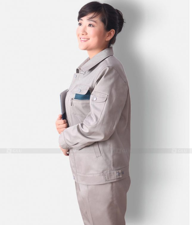 Dong phuc cong nhan GLU CN1213 mẫu áo công nhân