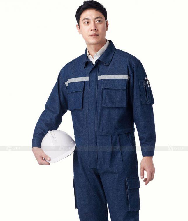 Dong phuc cong nhan GLU CN1214 mẫu áo công nhân