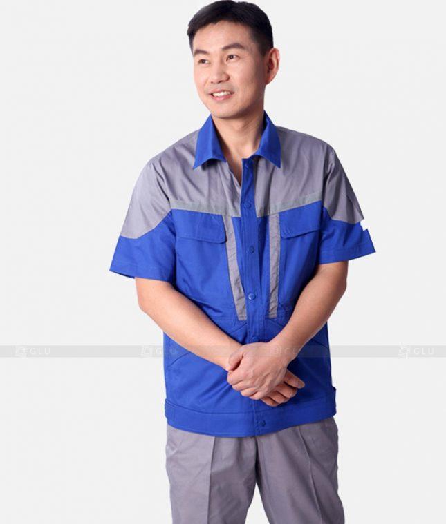 Dong phuc cong nhan GLU CN1215 mẫu áo công nhân