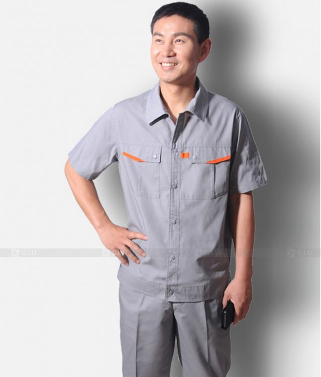 Dong phuc cong nhan GLU CN1221 mẫu áo công nhân