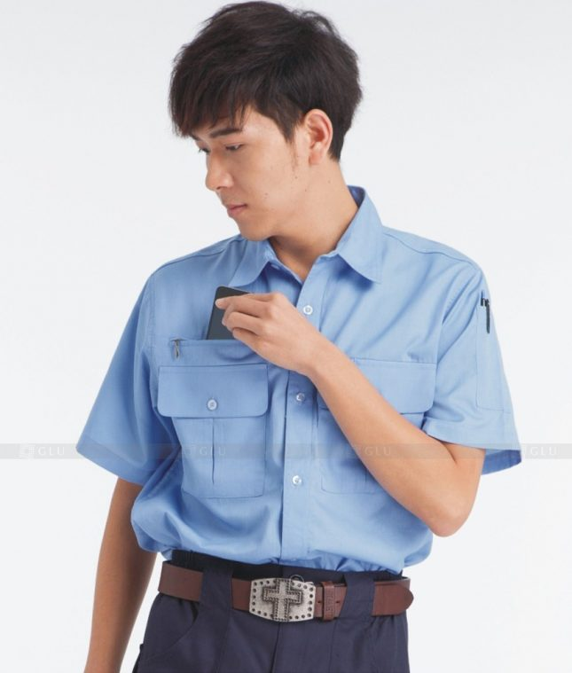 Dong phuc cong nhan GLU CN1222 mẫu áo công nhân