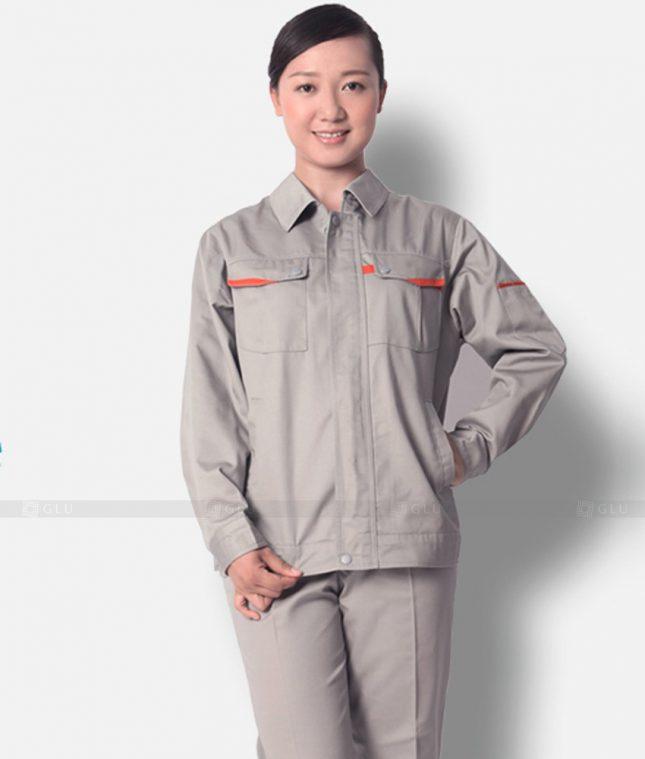 Dong phuc cong nhan GLU CN1223 mẫu áo công nhân