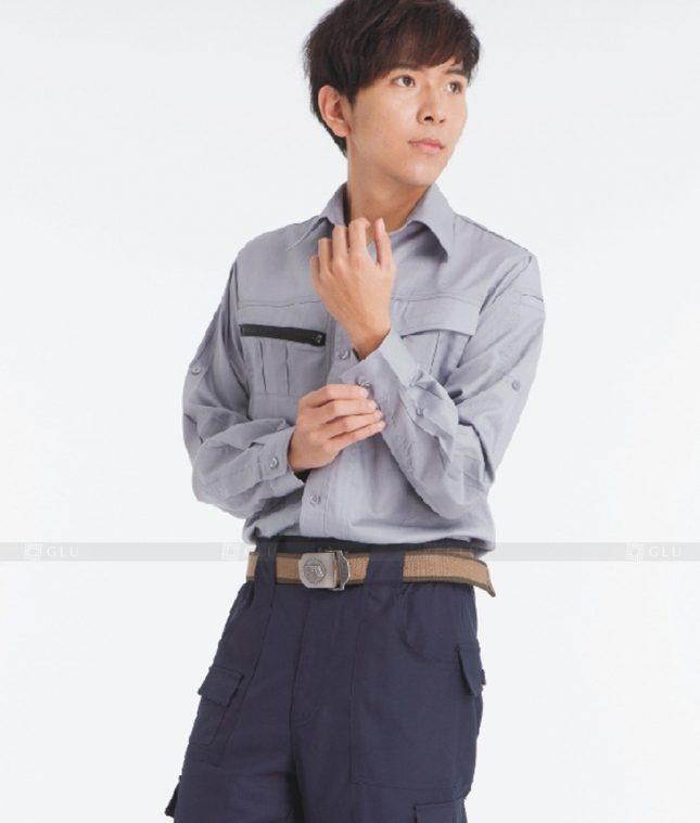 Dong phuc cong nhan GLU CN1224 mẫu áo công nhân