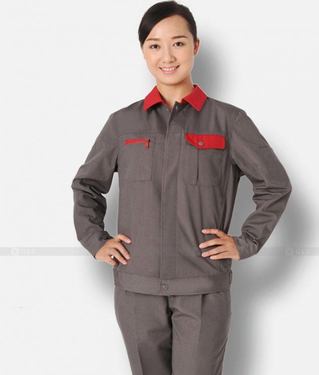 Dong phuc cong nhan GLU CN1225 mẫu áo công nhân
