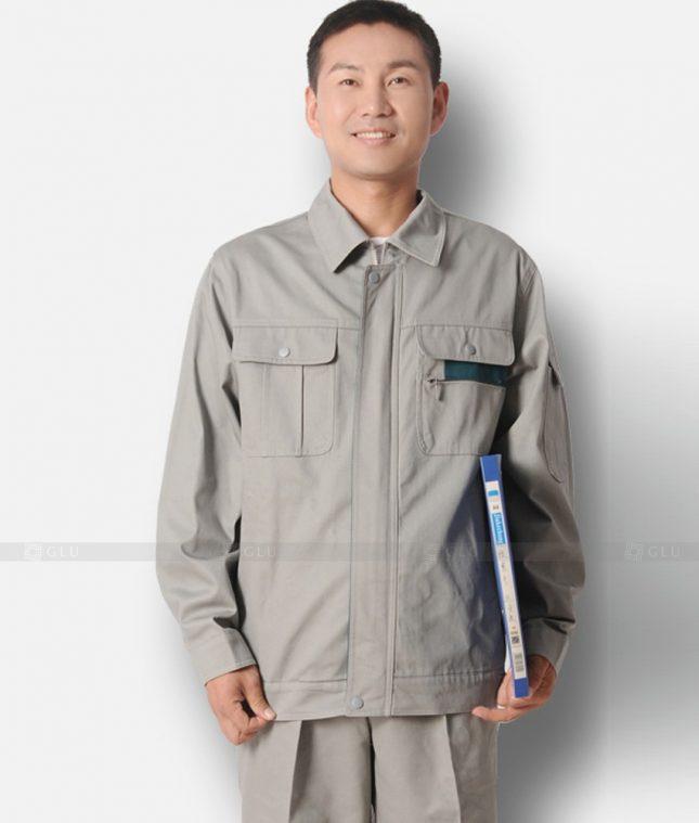 Dong phuc cong nhan GLU CN1226 mẫu áo công nhân