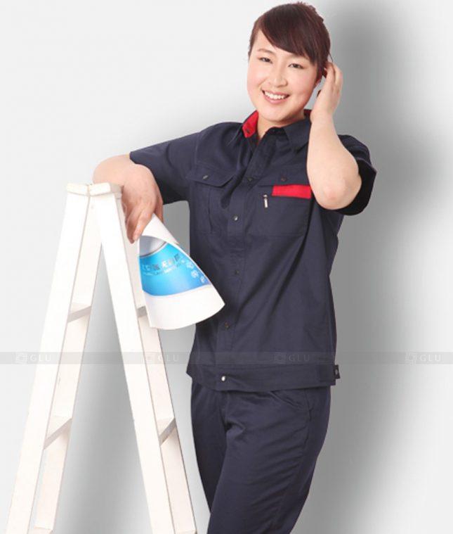 Dong phuc cong nhan GLU CN1228 mẫu áo công nhân