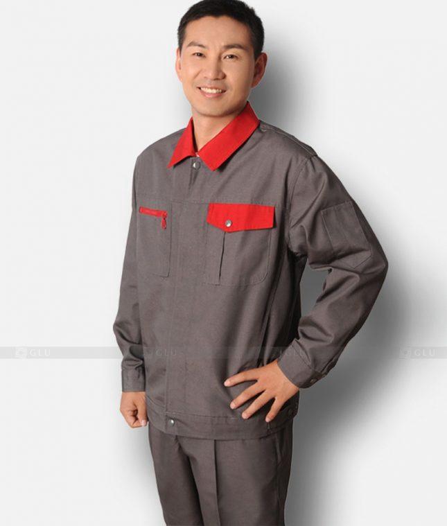 Dong phuc cong nhan GLU CN1230 mẫu áo công nhân